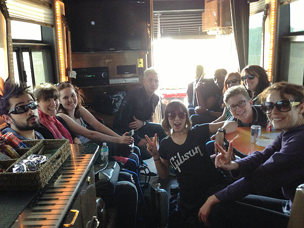 Gibson Playlist Live bus appearance
